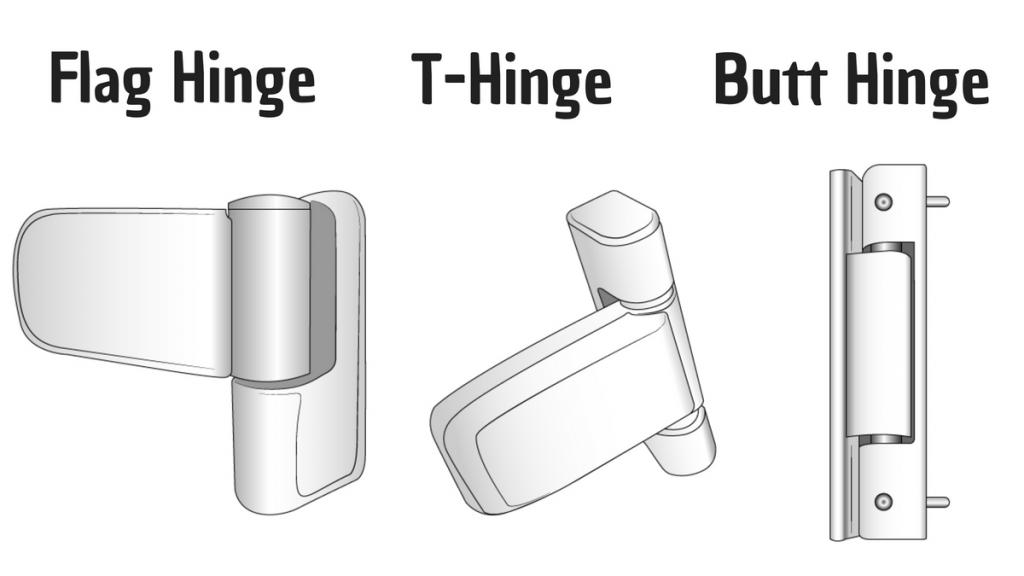 different door hinges available to adjust a uPVC back door
